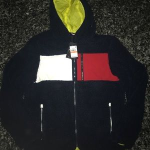 Tommy Hilfiger urban outfitters sherpa jacket